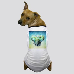 watercolor elephant Dog T-Shirt